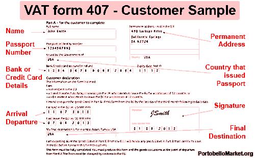 407 form pdf vat